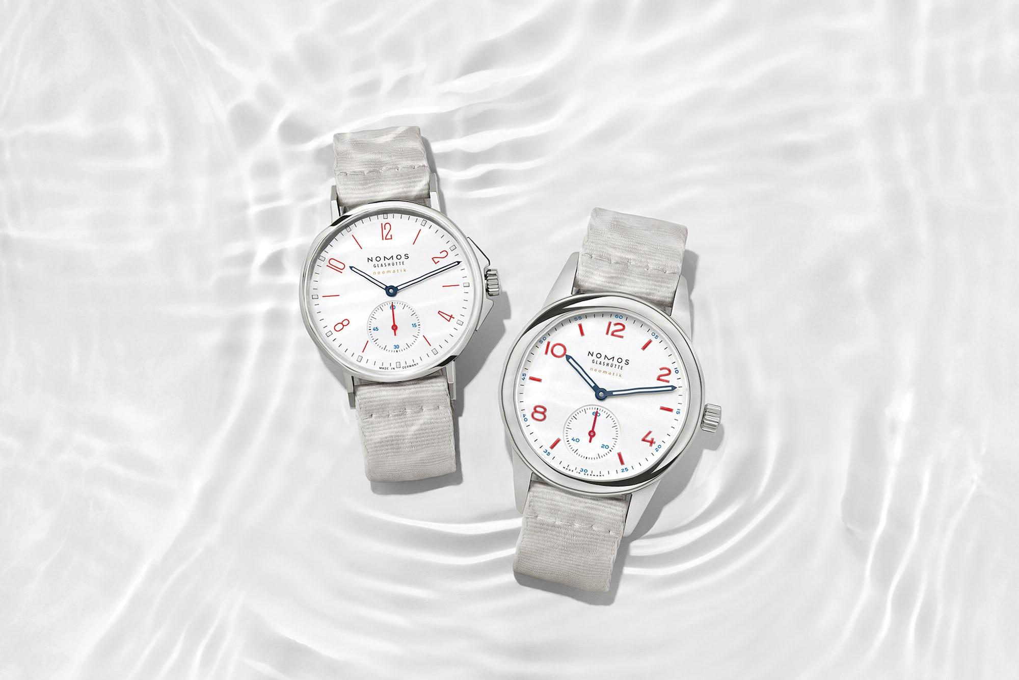 Introducing: Two New 'Siren White' Dial Additions To The NOMOS Aqua Series Nomos white aqua 6
