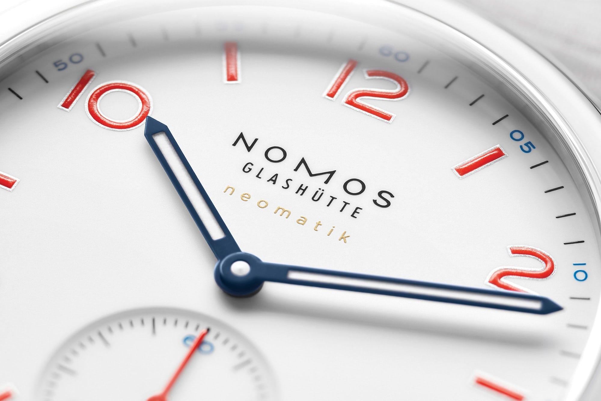 Introducing: Two New 'Siren White' Dial Additions To The NOMOS Aqua Series Nomos white aqua 4