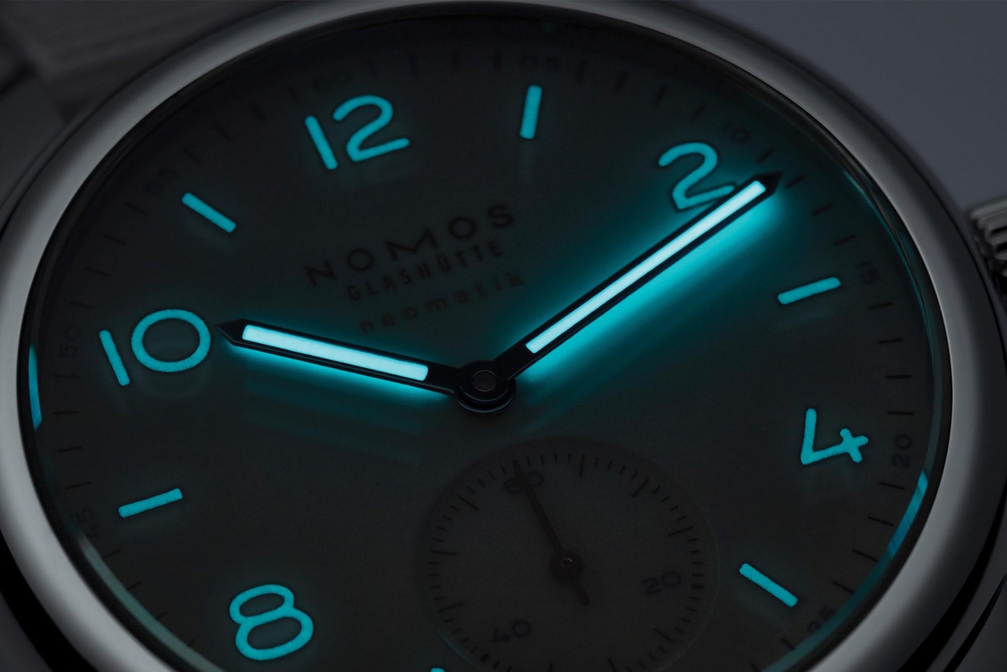 Introducing: Two New 'Siren White' Dial Additions To The NOMOS Aqua Series Nomos white aqua 5