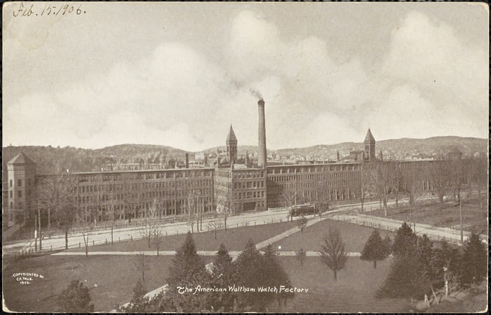 A view of the Waltham Watch Factory, 1906