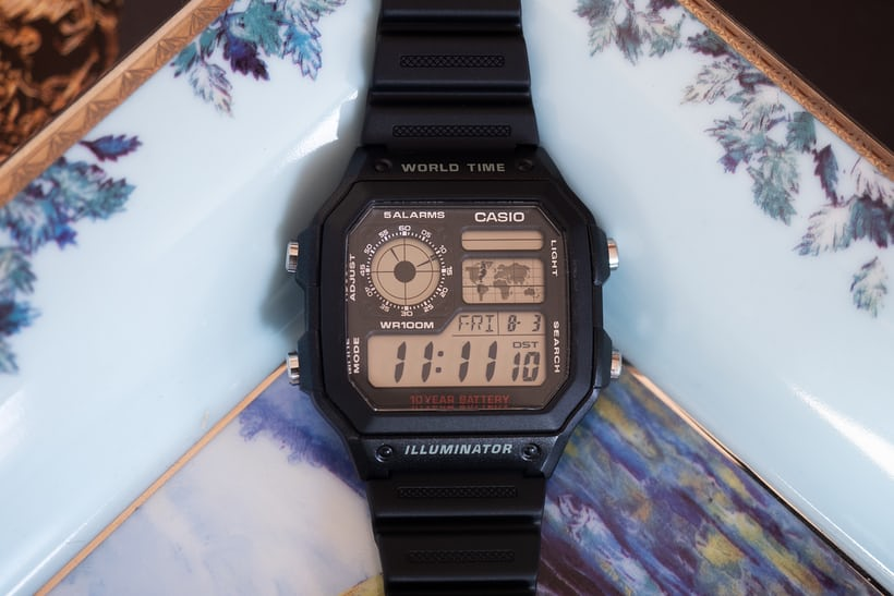f7f606a279 Another utterly fantastic wristwatch made by Casio, is this one: the  AE1200WH-1A World Timer. I have been admiring it in a desultory fashion for  many years, ...