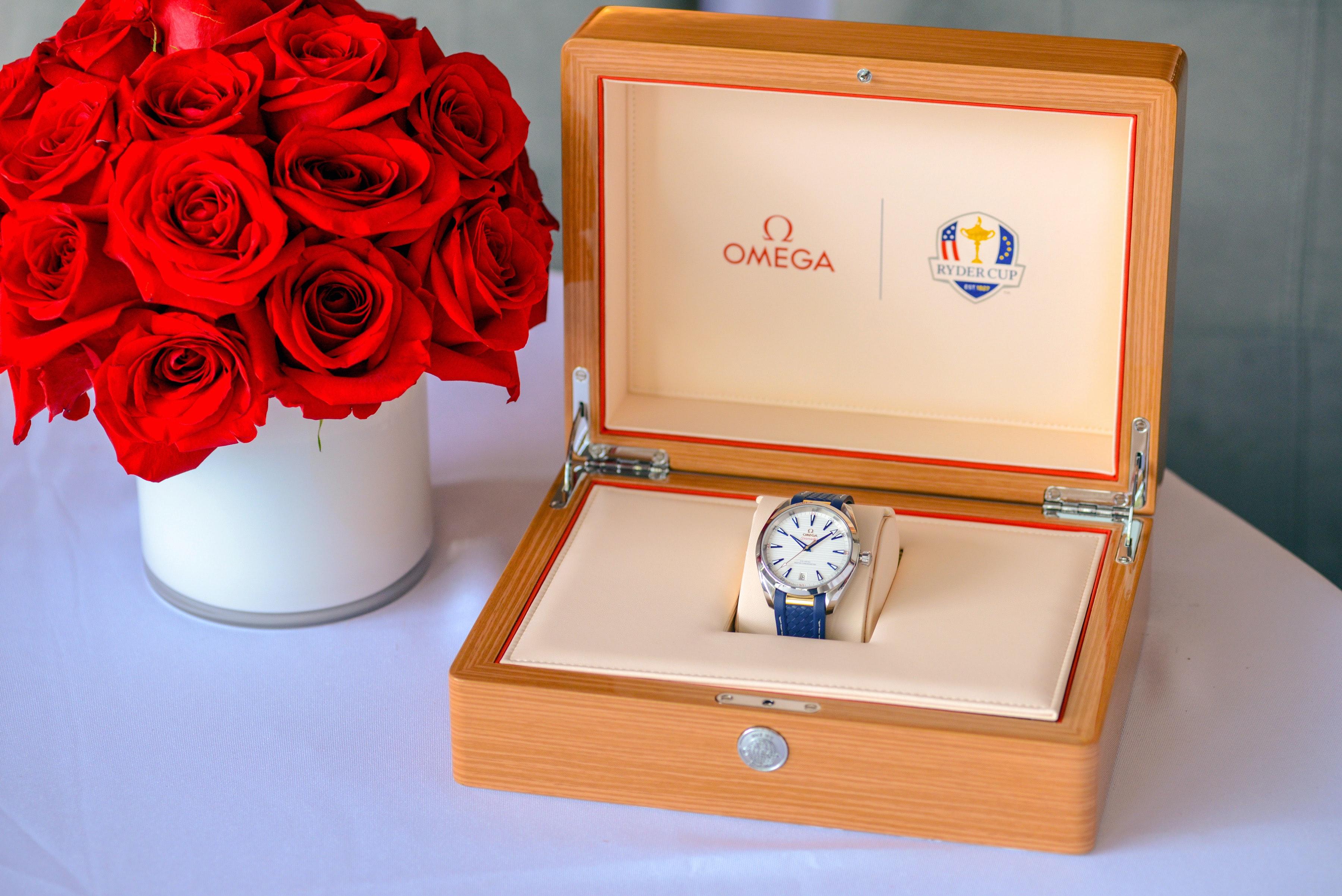 Introducing: The Omega Seamaster Aqua Terra 150M 'Ryder Cup' Seamaster Aqua Terra Ryder Cup Timepiece in Presentation Box