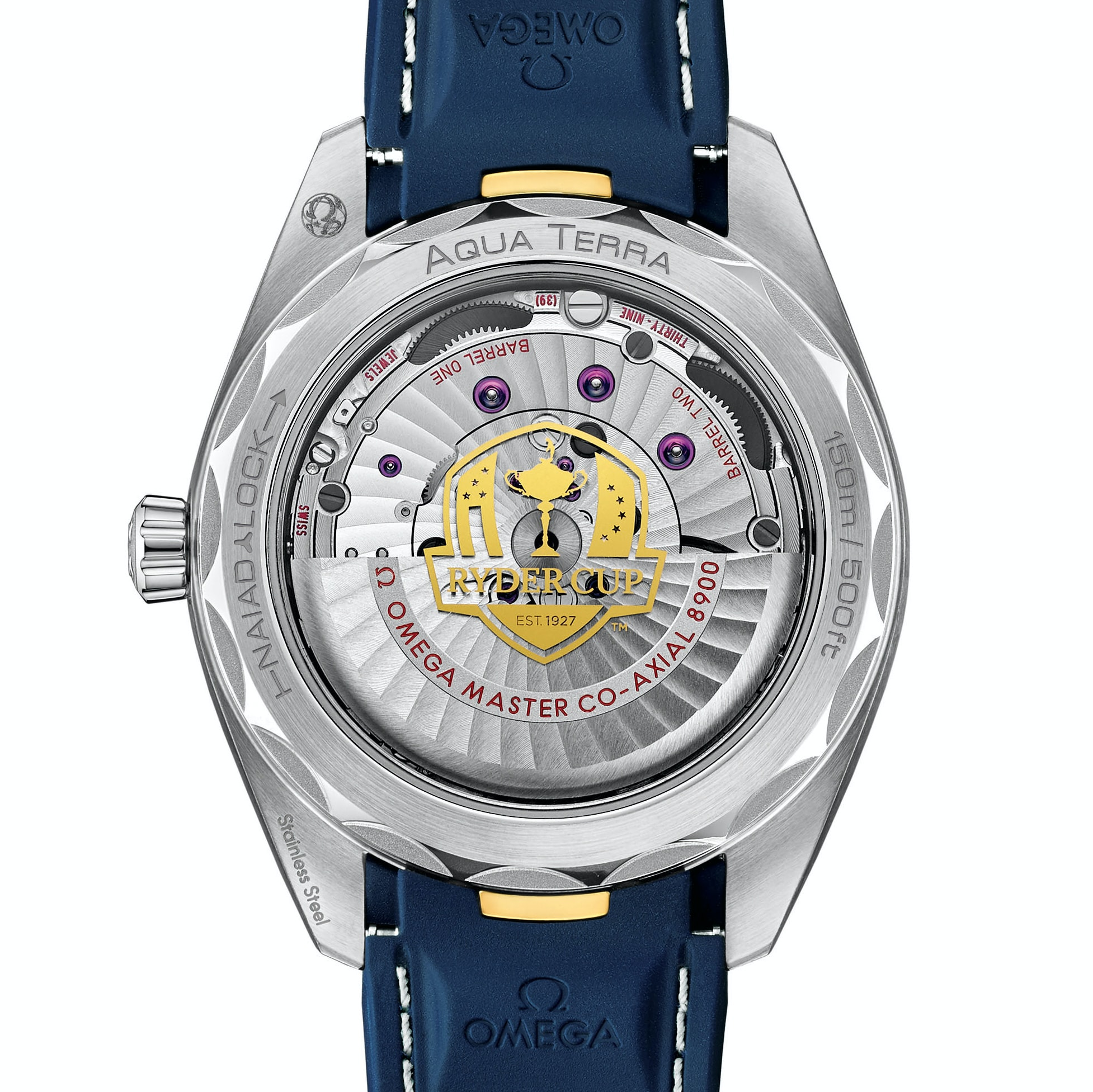 Introducing: The Omega Seamaster Aqua Terra 150M 'Ryder Cup' aqua back