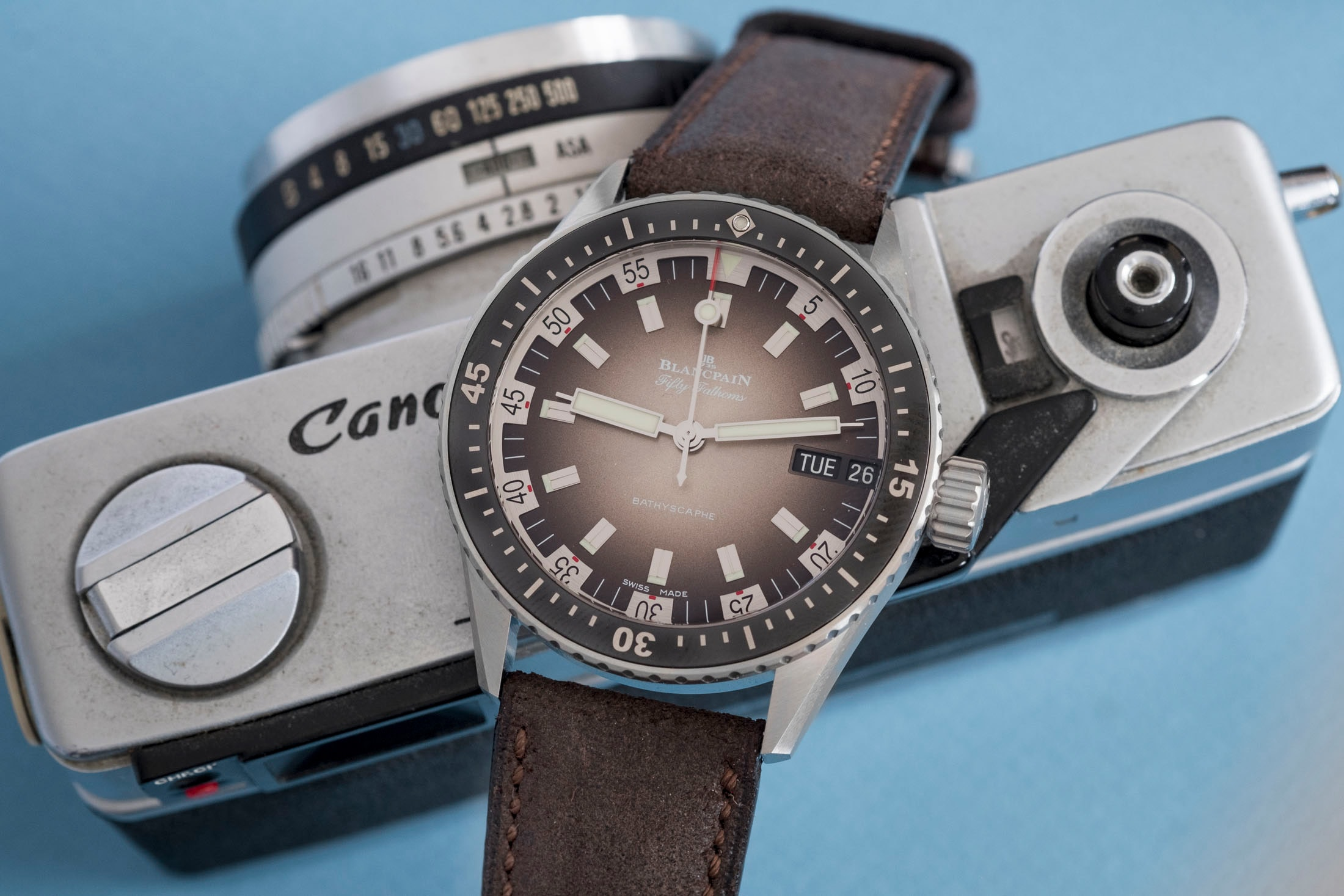 Review: The Blancpain Fifty Fathoms Bathyscaphe Day Date 70s DSCF8685