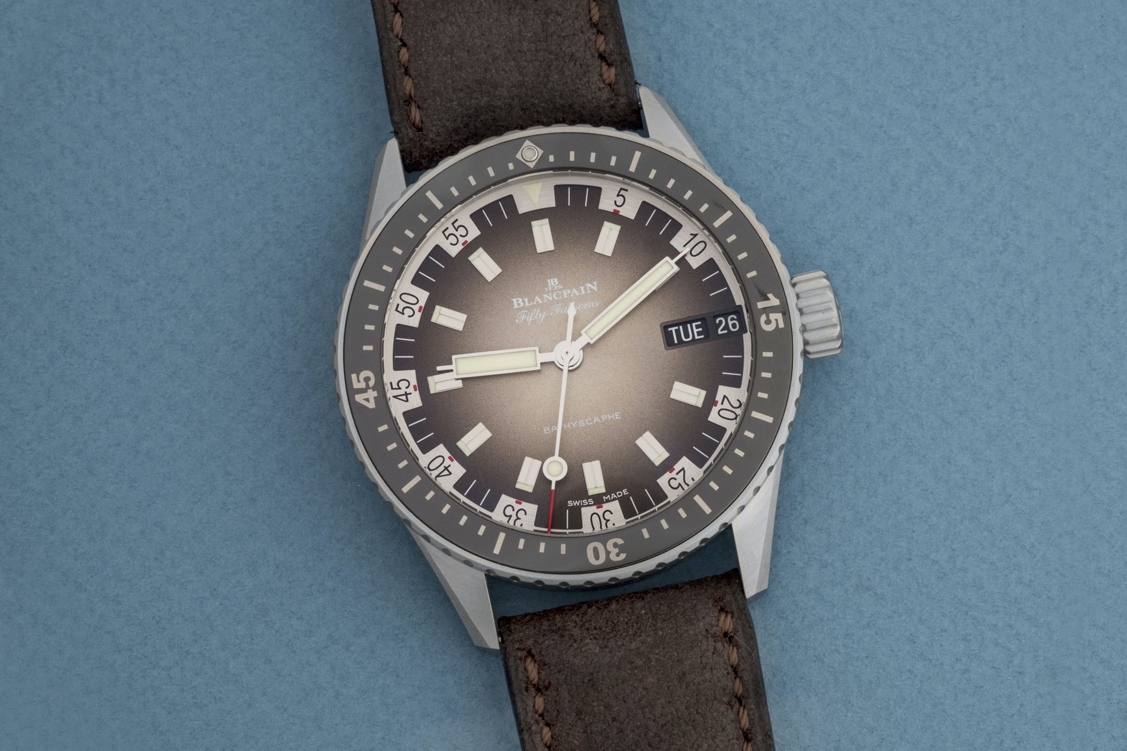 Review: The Blancpain Fifty Fathoms Bathyscaphe Day Date 70s DSCF8653