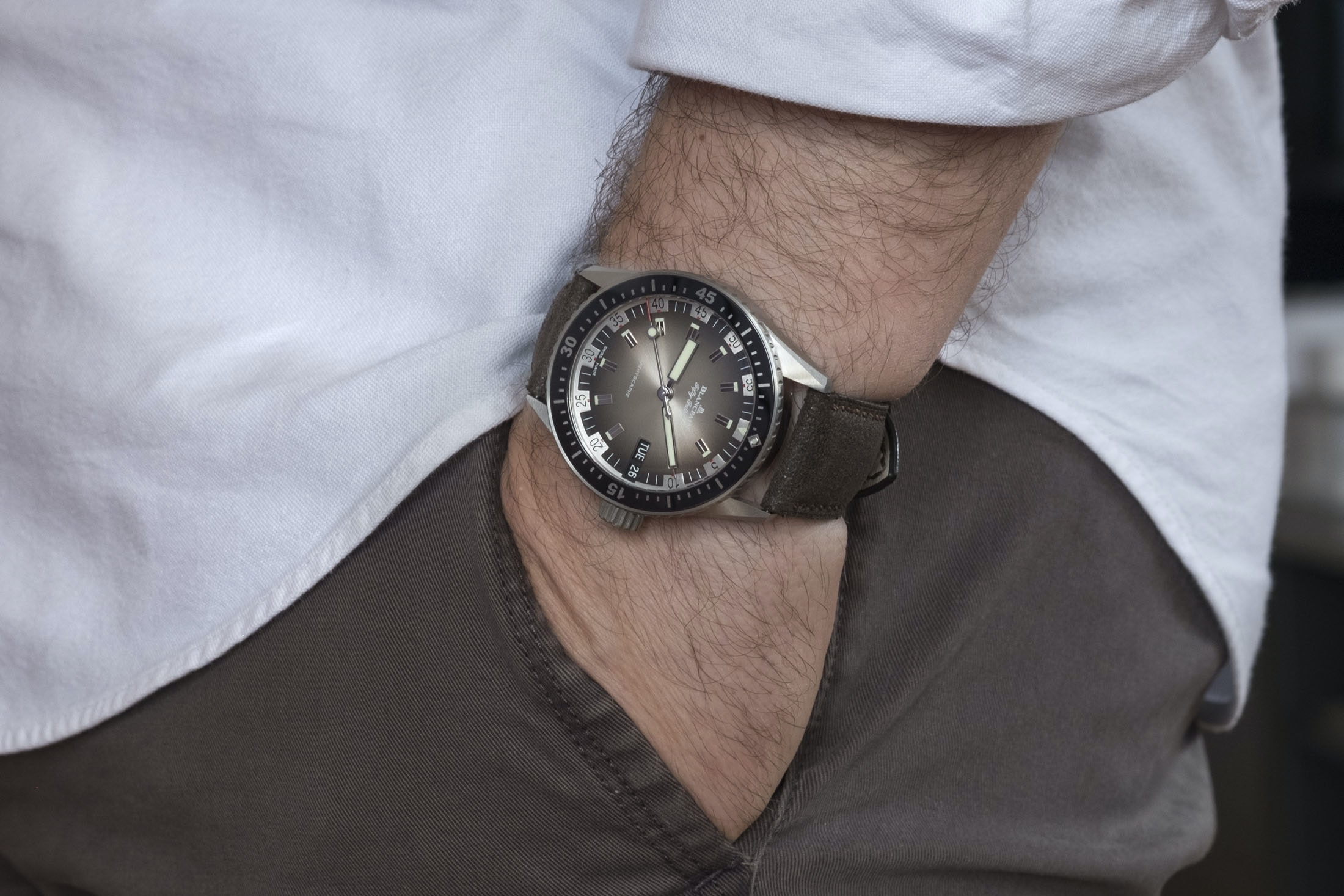 Review: The Blancpain Fifty Fathoms Bathyscaphe Day Date 70s DSCF8701