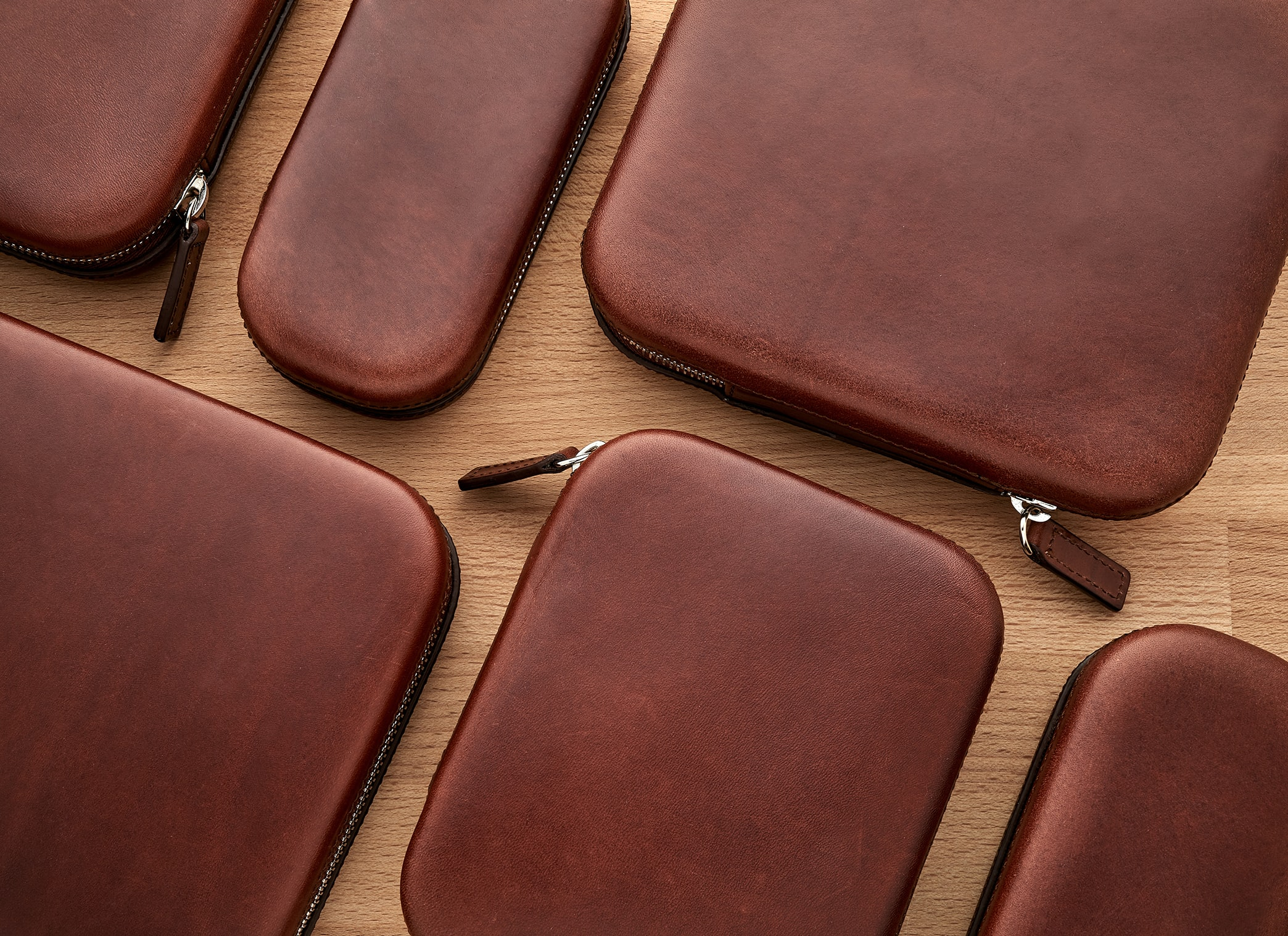 In The Shop – Introducing: The Moulded Oak-Tanned Leather Case Collection CASE WC BURG Group HERO