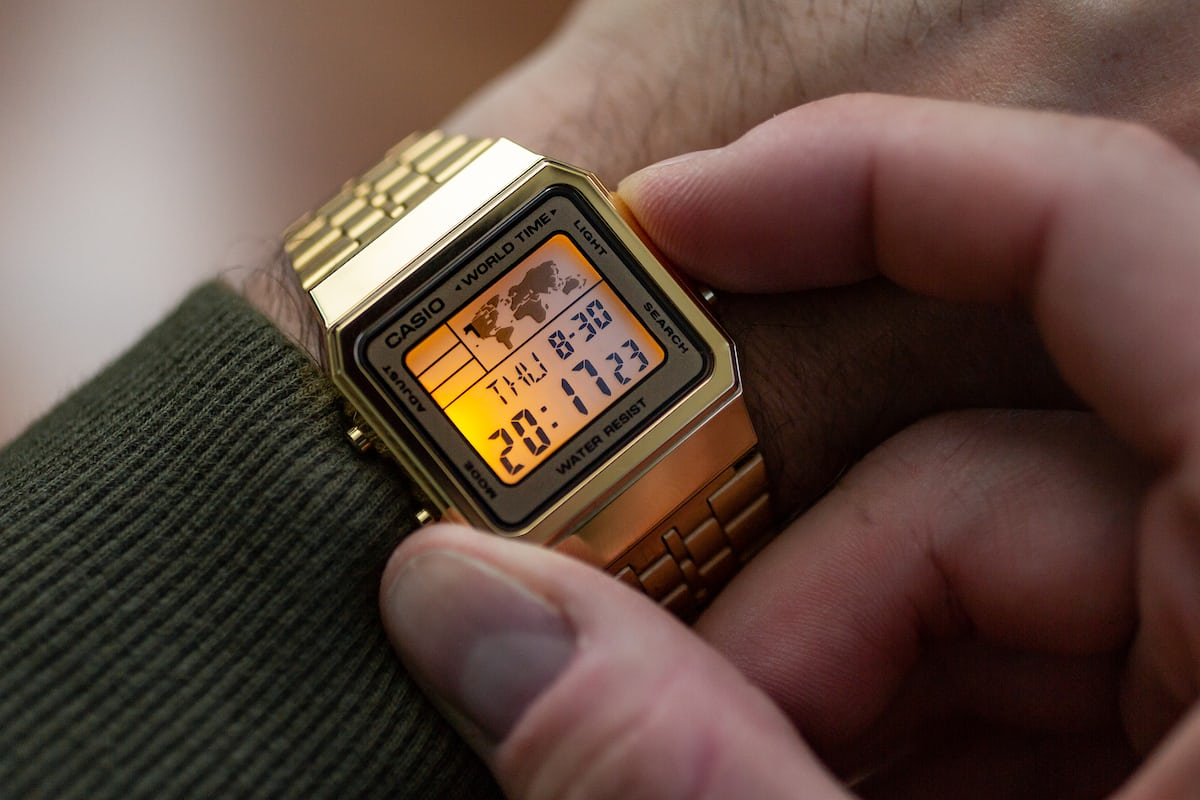 Hands On The Gold Casio A500wga 9df World Timer Hodinkee