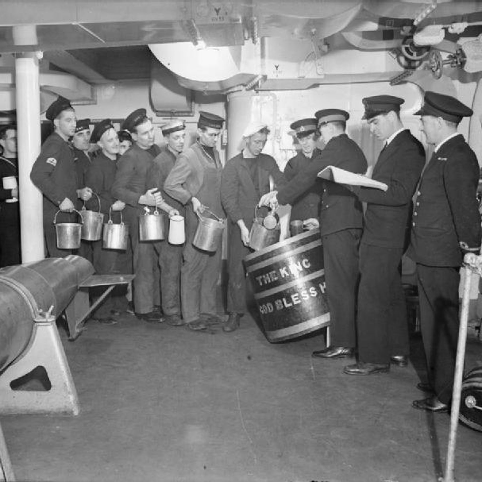 Weekend Round-Up: Beautiful American Museums, Drunken British Sailors, And Mysterious Holes In The Earth Rum Ration Aboard HMS King George V 1940 A1777