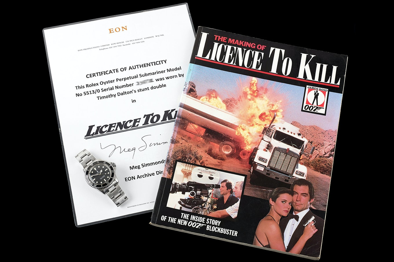 Found: James Bond's Rolex Submariner From 'A Licence To Kill' Is Up For Auction bond 2