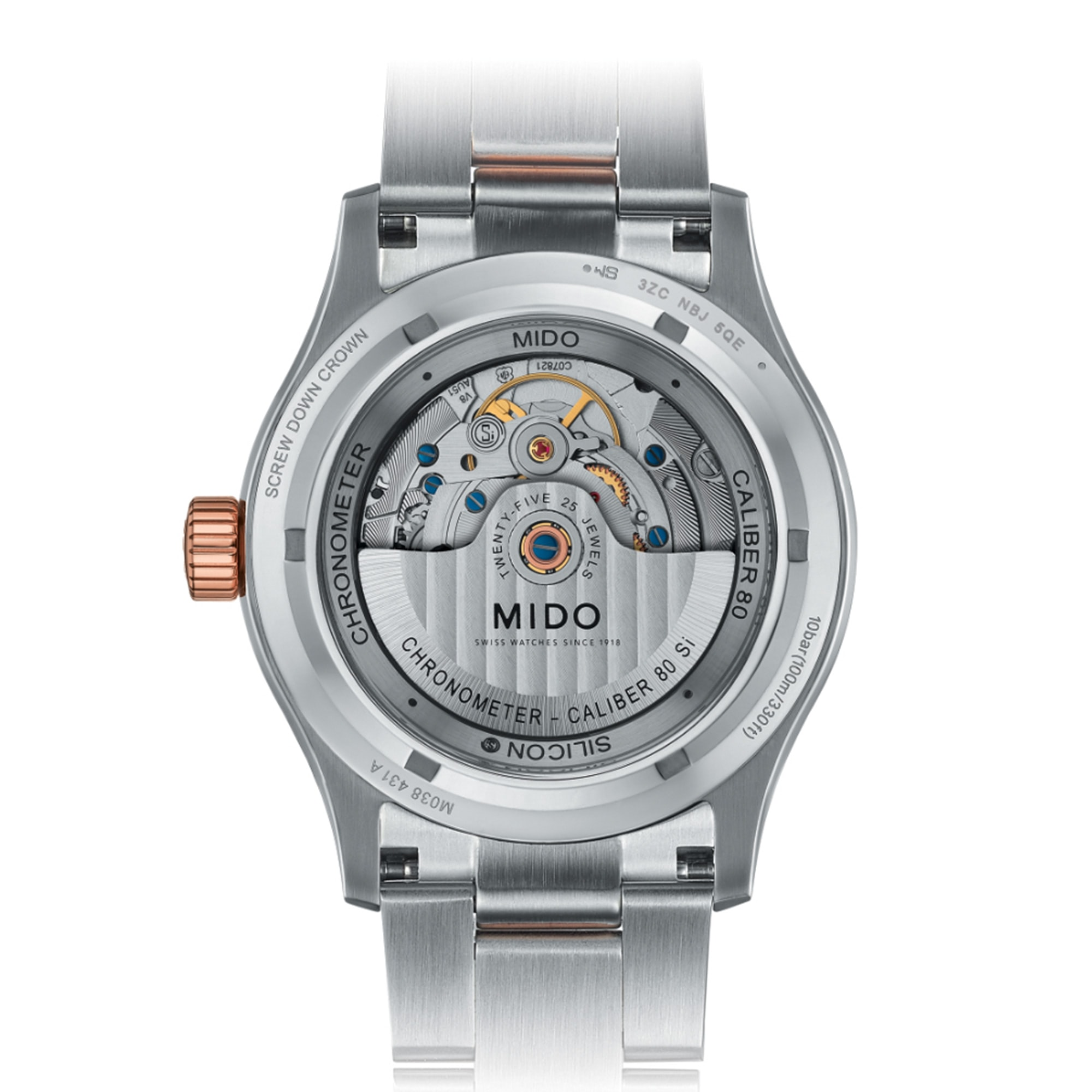 Introducing: The Mido Multifort Chronometer Mido COSC back