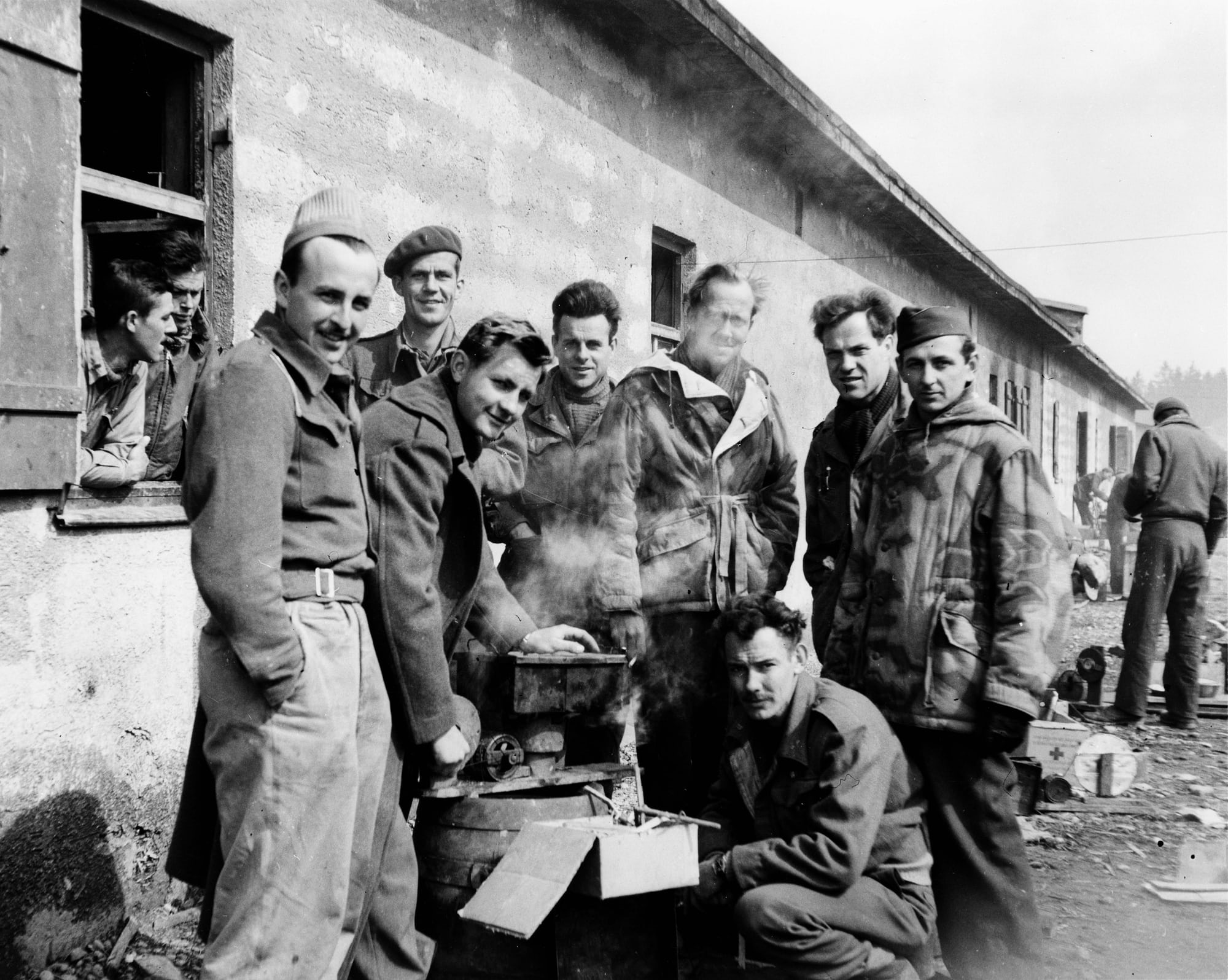 Historical Perspectives: A Prisoner Of War, His Patek Philippe, And A New Film That Tells Their Tale POW bunk mates in Moosburg after the 70 mile Forced March from Stalag Luft III
