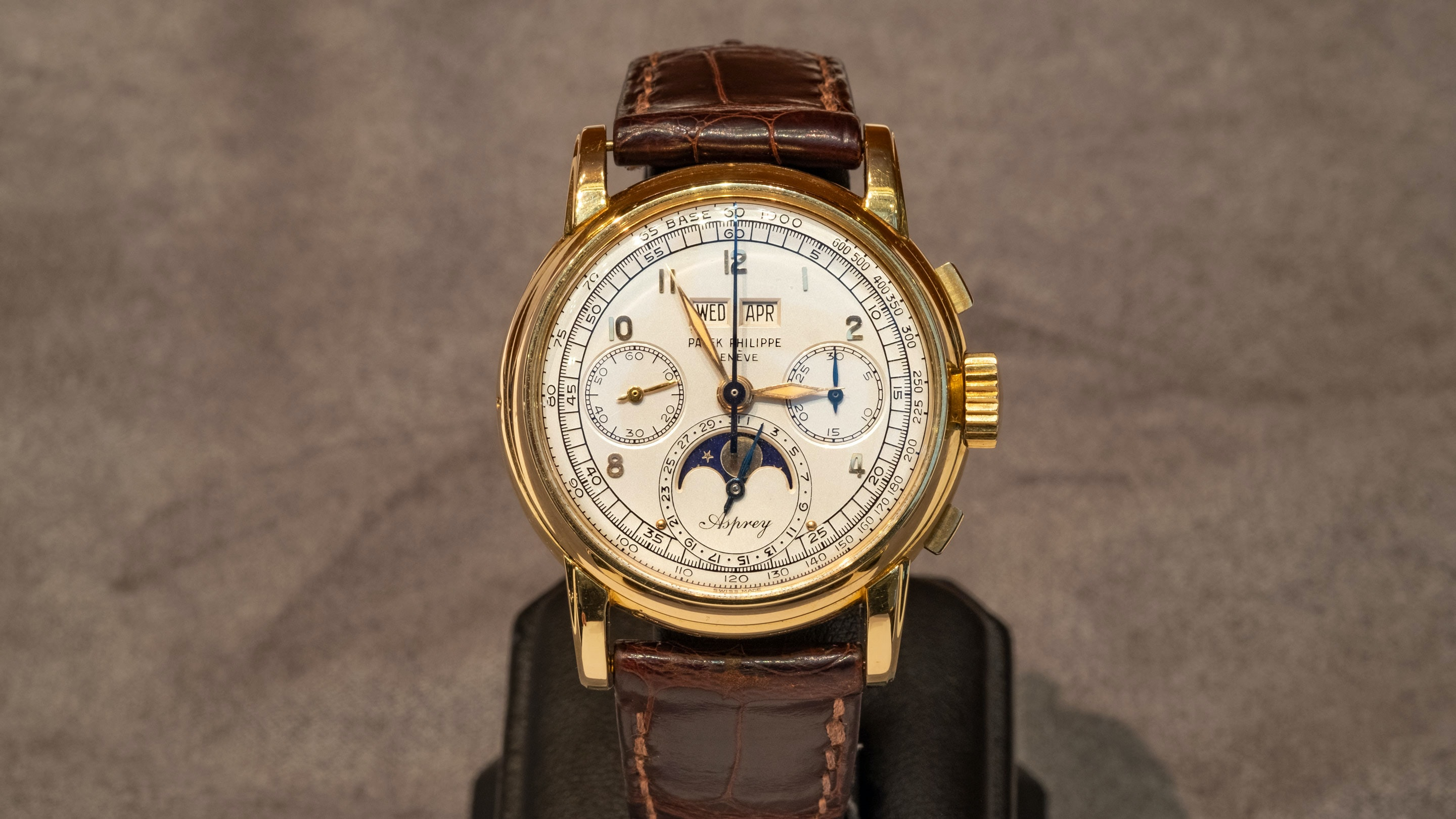 Breaking News: The Only Known Asprey-Signed Patek Philippe Ref. 2499 Sells For $3.88 Million At Sotheby's, Setting A New World Record sothebys H