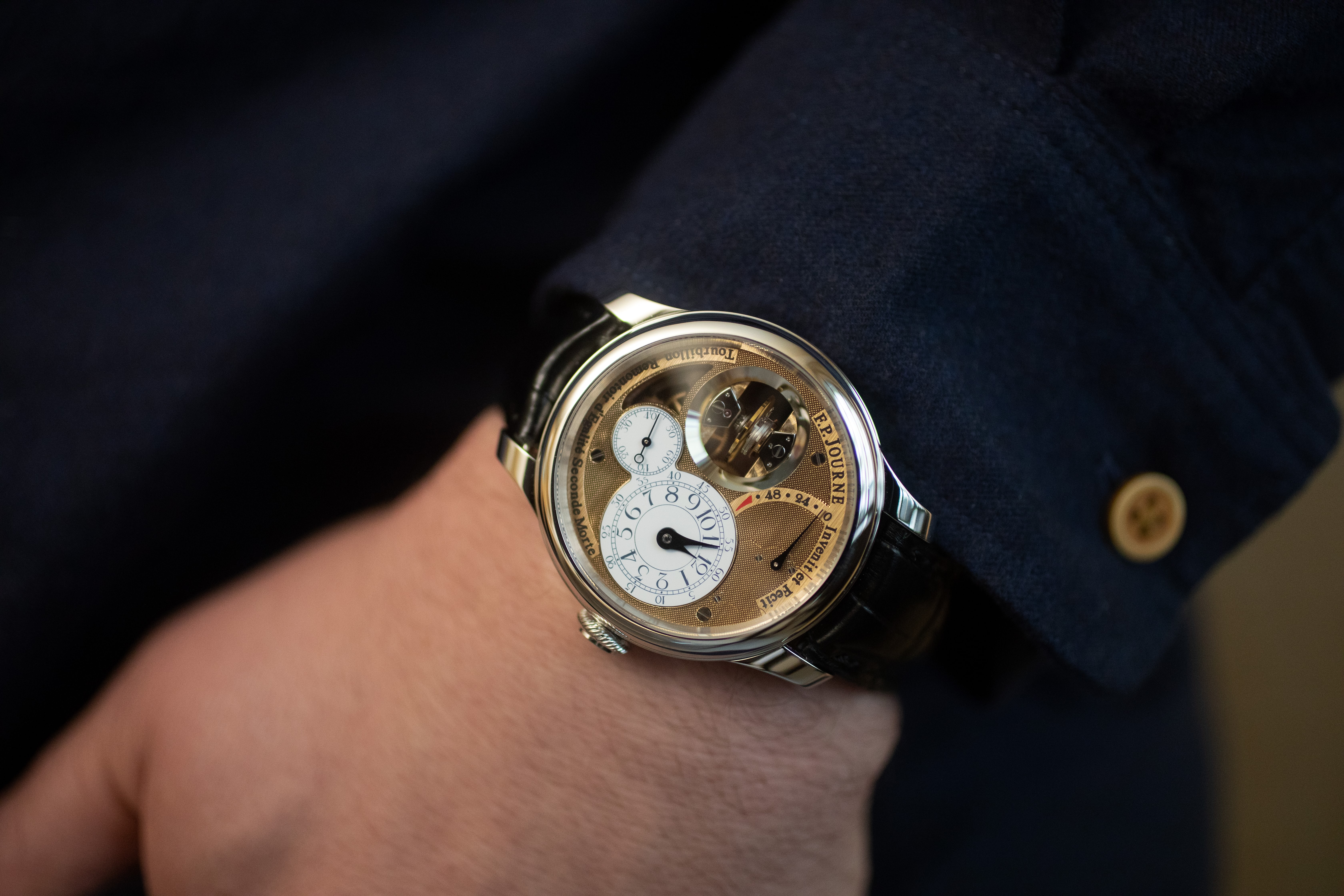 F. P. Journe Tourbillon Souverain Vertical on wrist