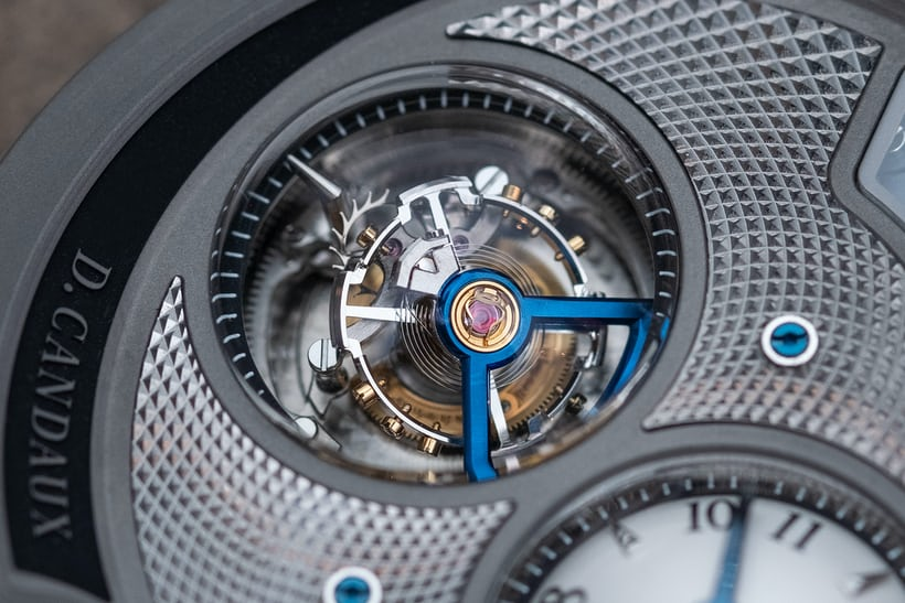 30 degree inclined tourbillon in the D.Candaux DC6 Half Hunter