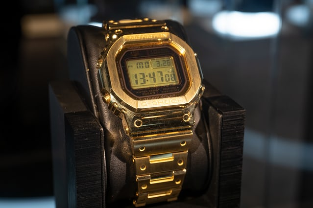 f804424749bc Just Because  The Solid 18 Karat Gold G-Shock  Pure Gold  G-D5000 ...