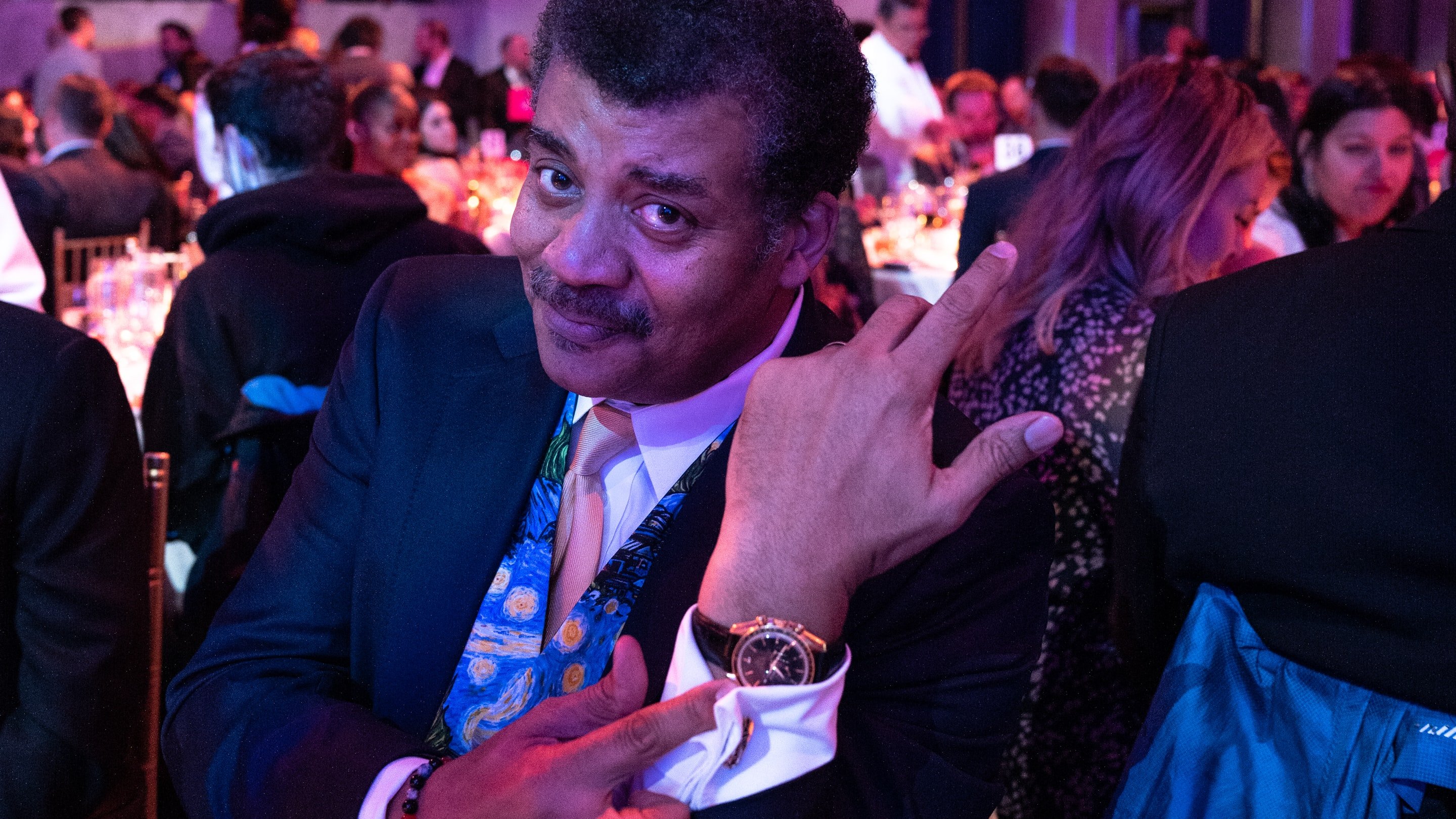 Watch Spotting: Neil deGrasse Tyson Wearing His Rare Speedmaster Professional 'Starmus' At The 2019 Webby Awards