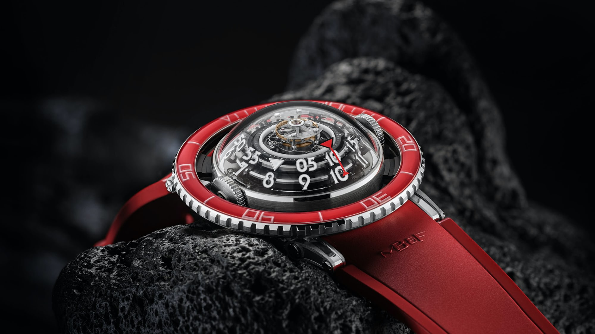 Introducing: The MB&F HM7 Aquapod Platinum Red