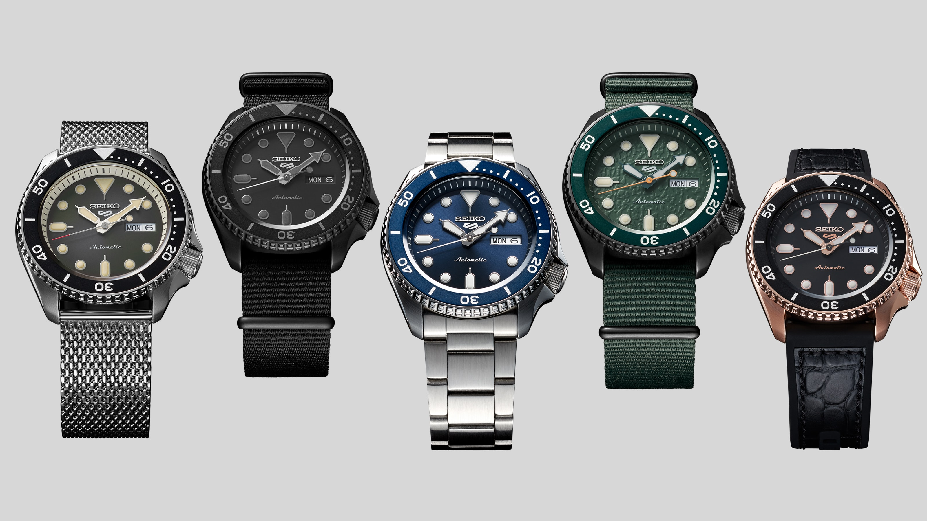 The Bay New Seiko 5 Sports Collection, 27 Watches (SKX Replacement) $239.06 - $286.87