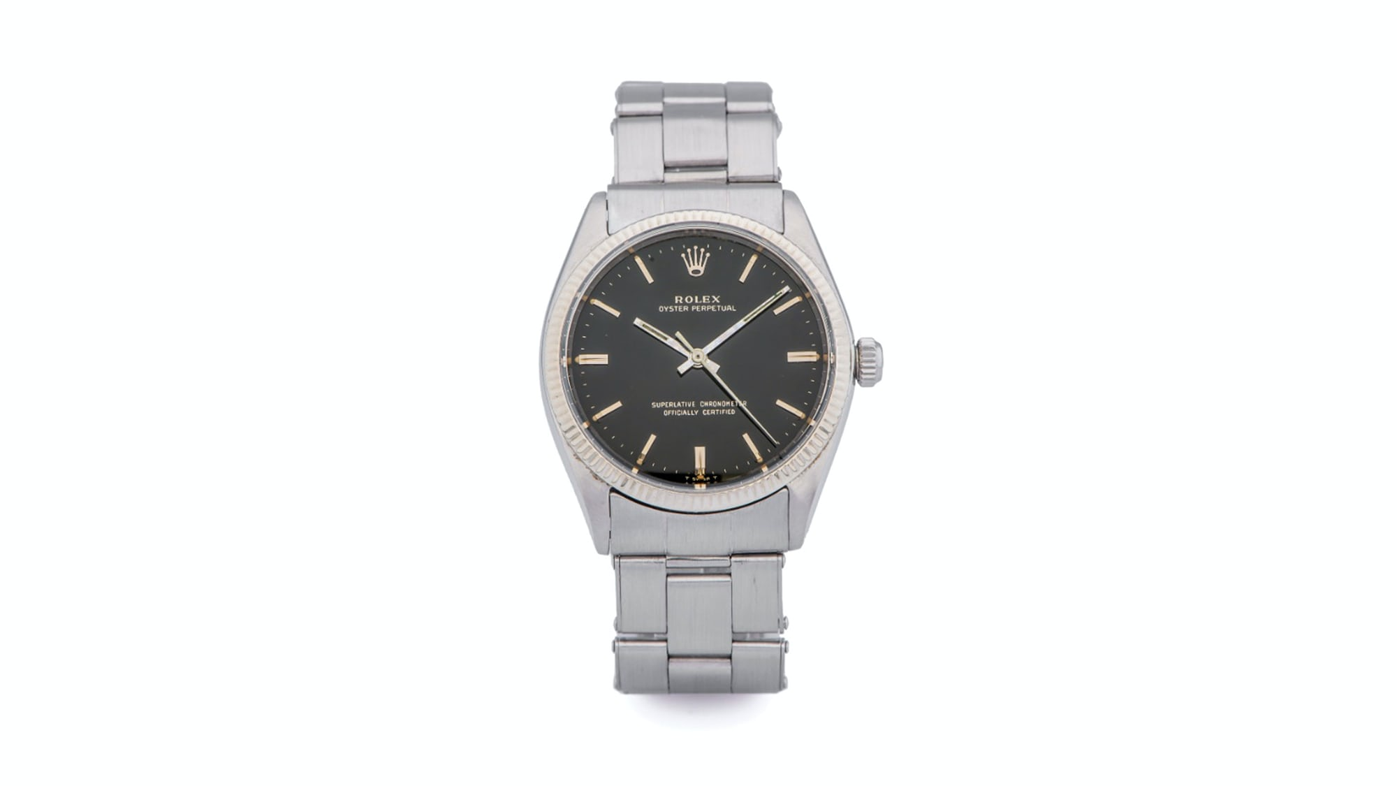 Bring a Loupe: A 1960s Rolex Oyster Perpetual Ref. 1002, An Abercrombie & Fitch Solunar, And An Omega Chronostop