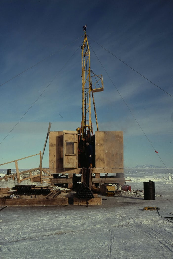 A drilling rig used to retrieve core samples.