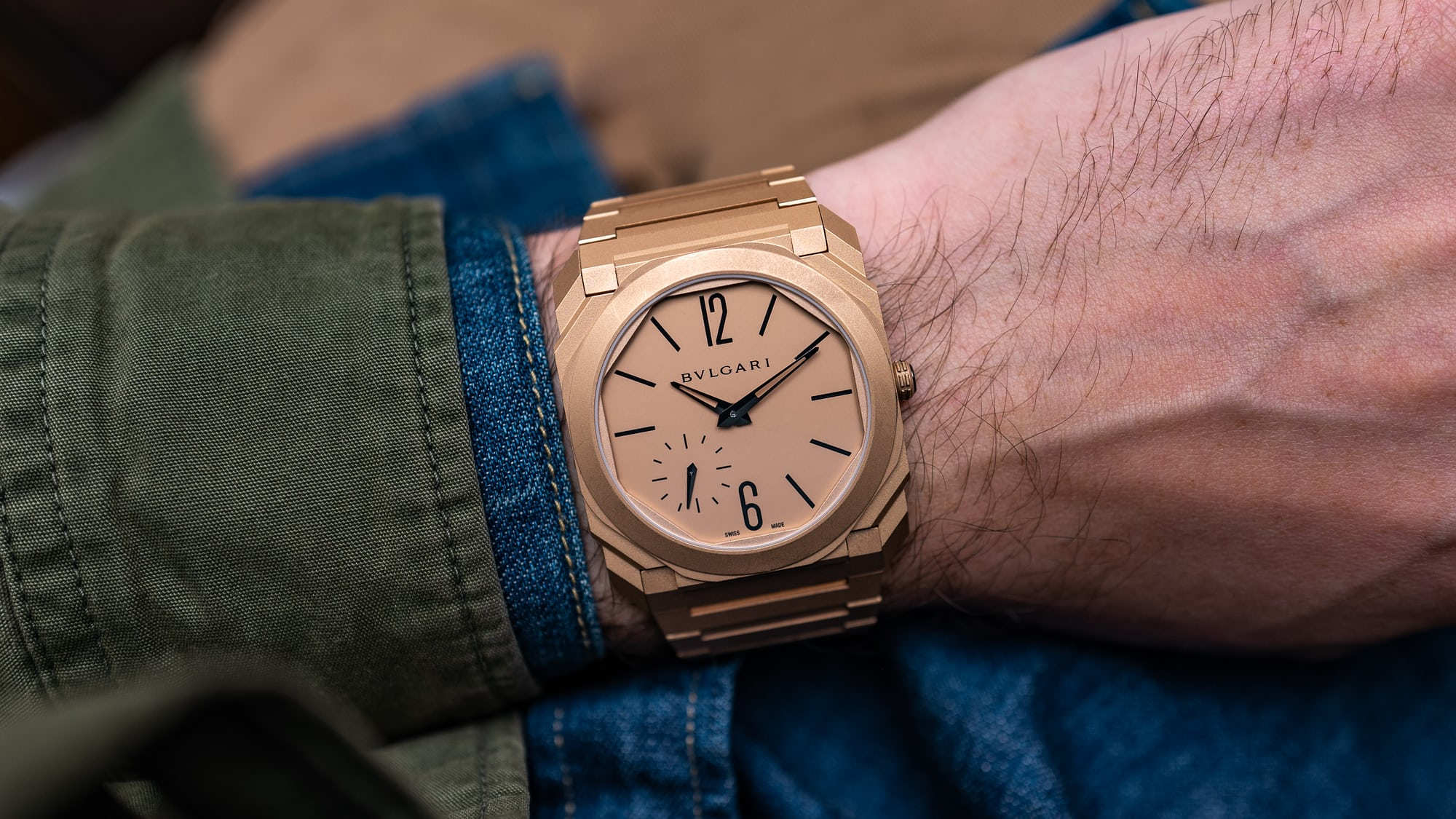 Hands-On: The Bulgari Octo Finissimo Automatic Blasted Gold