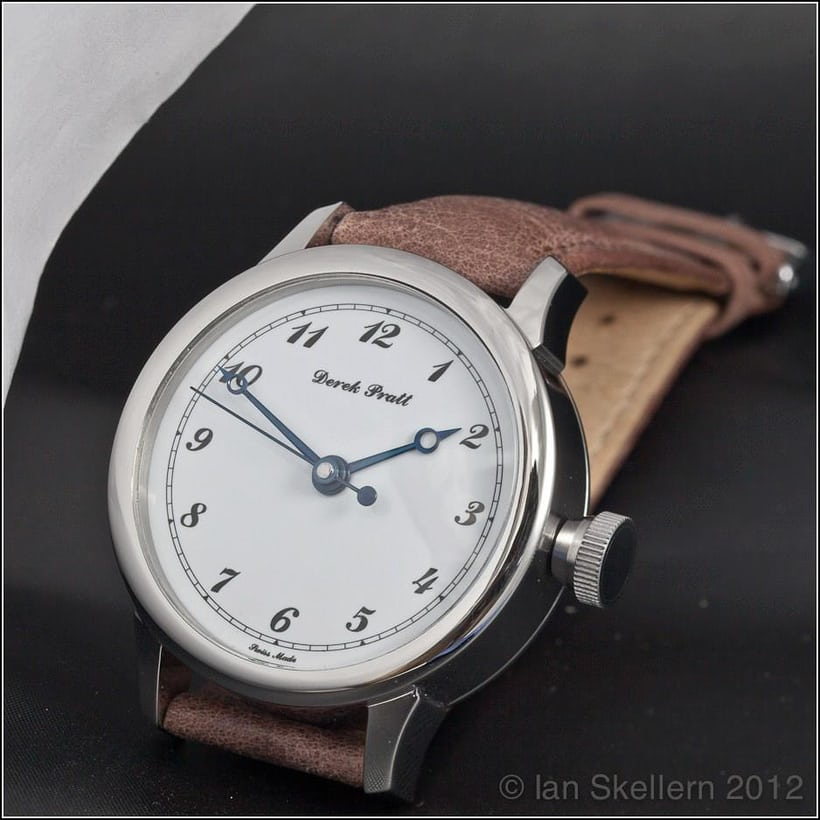 The first wristwatch prototype, with porcelain dial.