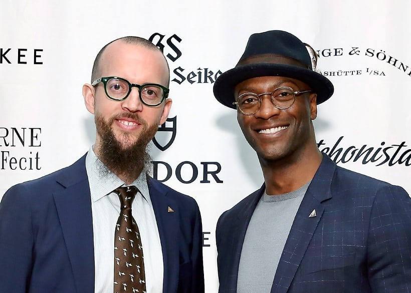 Nicholas Manousos and Aldis Hodge at the HSNY 2019 Gala & Charity Auction