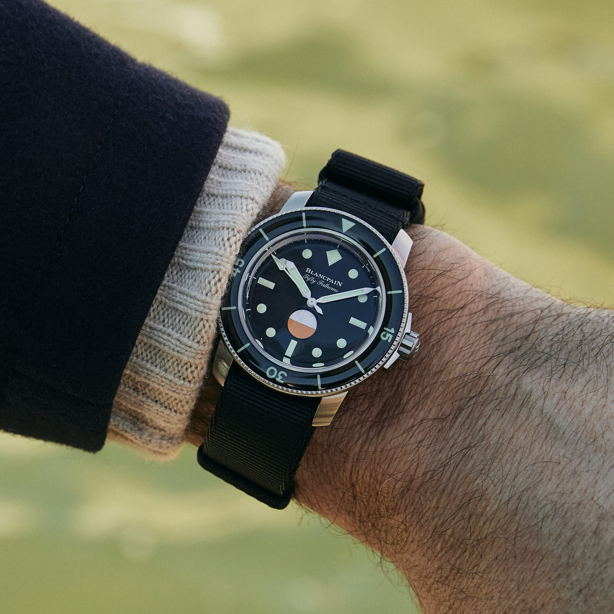 <p>Blancpain Fifty Fathoms MIL-SPEC Limited Edition For HODINKEE</p>