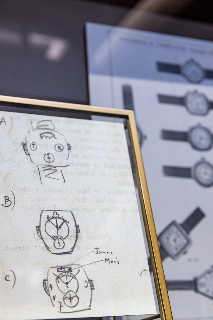 Sketches of a Vacheron watch