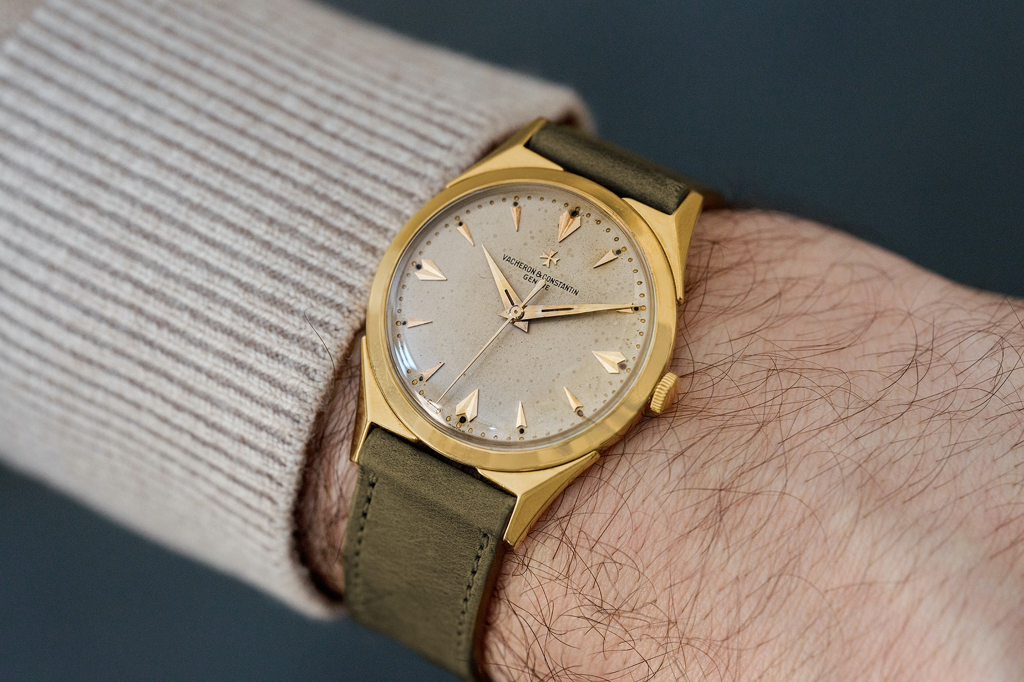 "<p><a href=""https://shop.hodinkee.com/products/chronometre-royal-18k-1"" rel=""noopener"" target=""_blank""><u>1950s Vacheron Constantin Dress Watch In 18k Yellow Gold</u></a></p>"