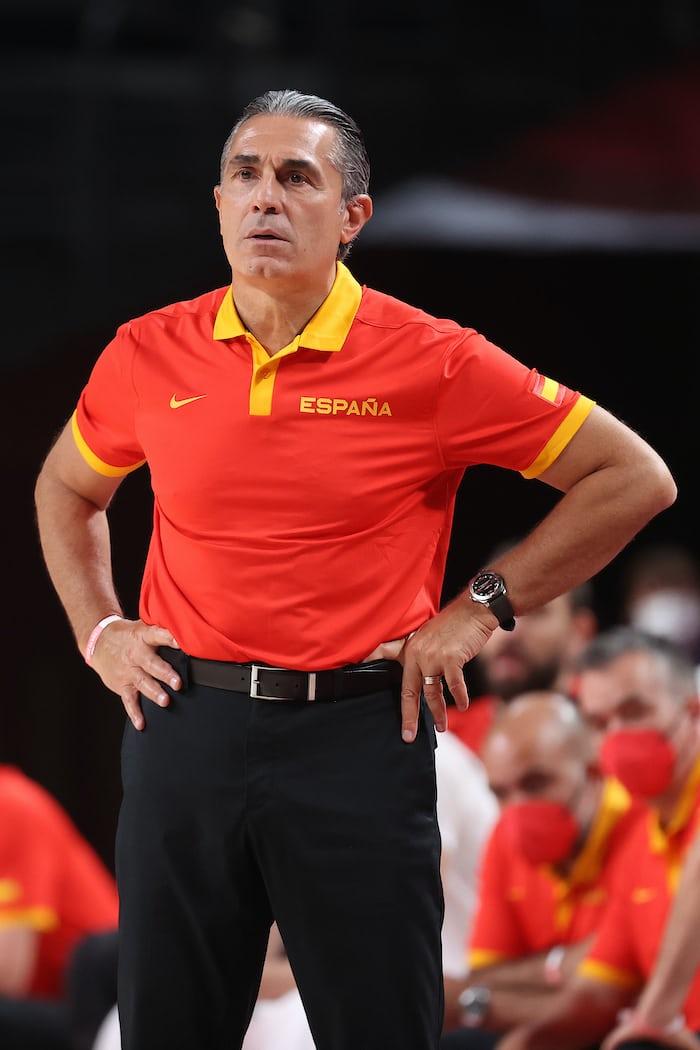 Sergio Scariolo wearing a watch