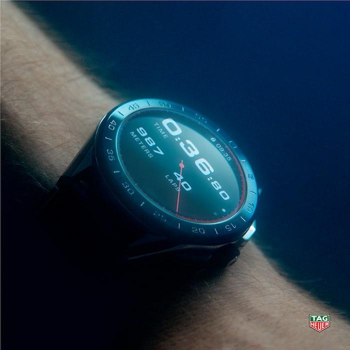 TAG Heuer watch underwater