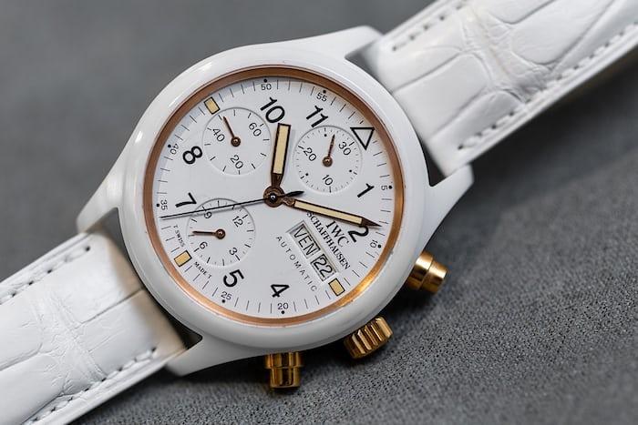A white IWC watch