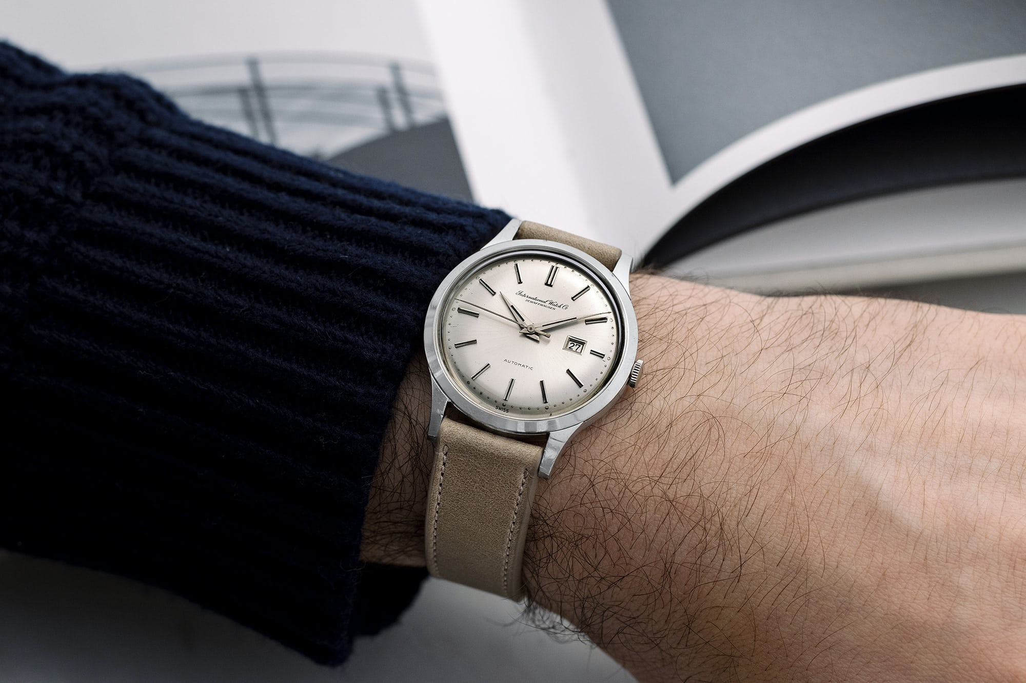 """<p><a href=""""https://shop.hodinkee.com/products/2508-iwc-ref-647a-ss-date"""" rel=""""noopener"""" target=""""_blank""""><u>1960s IWC Automatic Date Dress Watch Ref. 647A</u></a></p>"""