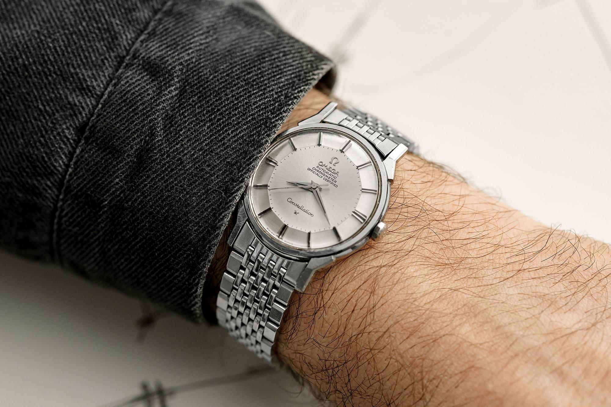 """<p><a href=""""https://shop.hodinkee.com/products/2488-omega-constellation-on-bracelet"""" rel=""""noopener"""" target=""""_blank"""">1966 Omega Constellation Ref. 167.005 With 'Pie-Pan' Dial</a></p>"""