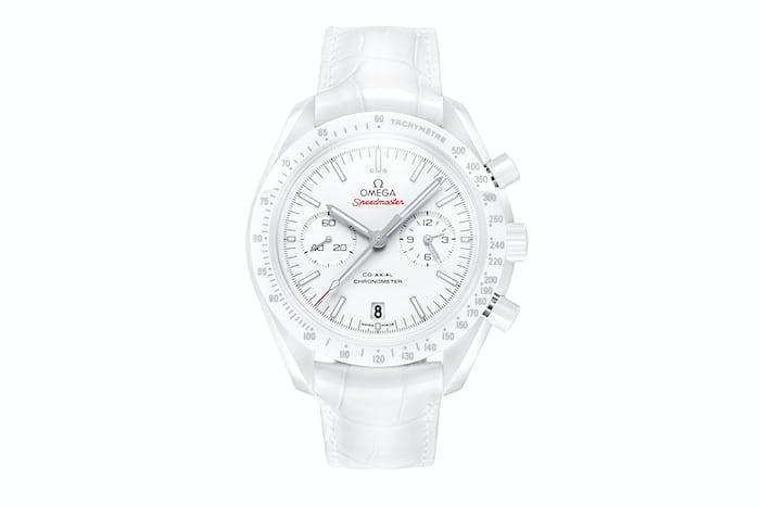 White Omega Speedmaster