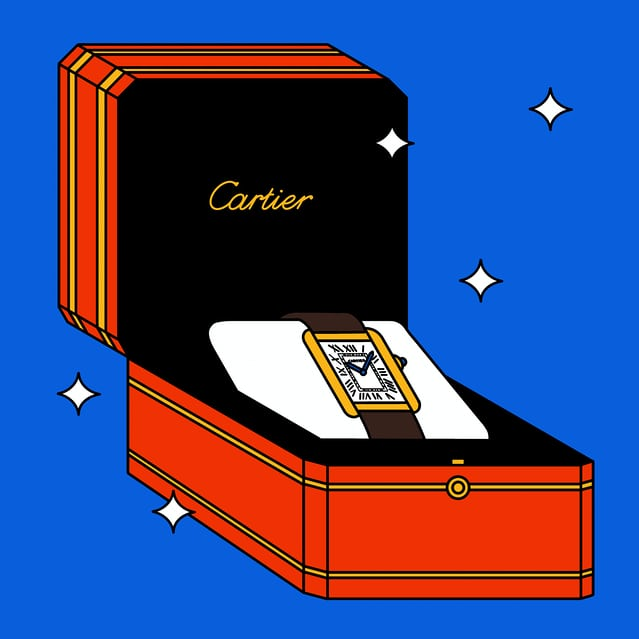 Cartier Tank illustration