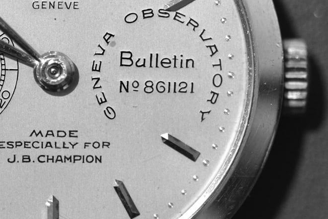 Watch 101 - Observatory Chronometer